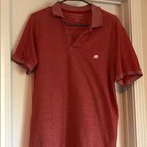 BananaRepublic Red Distressed Size Medium Polo